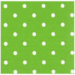 Yeşil Puantiyeli Kağıt Peçete 33x33 cm 20'li