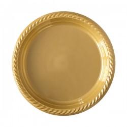 Altın Plastik Tabak 22 cm 10'lu