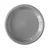 Gümüş Plastik Tabak 22 cm 25'li