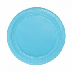 Mavi Plastik Tabak 22 cm 25'li