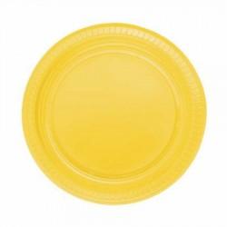 Sarı Plastik Tabak 22 cm 10'lu