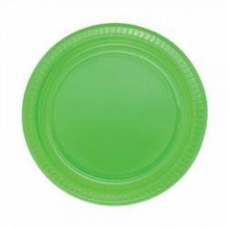 Yeşil Plastik Tabak 22 cm 10'lu