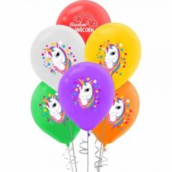 Unicorn Baskılı Pastel Balon 100'lü