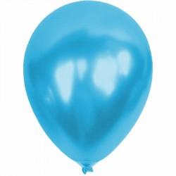 Metalik Açık Mavi Balon 12'li