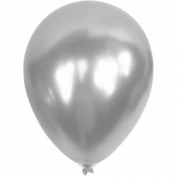 Metalik Gümüş Balon 12'li