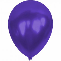 Metalik Mor Balon 12'li