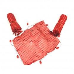 Halay Mendili Pullu Kırmızı 10'lu