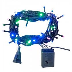 Yılbaşı Renkli Led Işık Eklemeli 80 Ampul 8 m