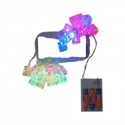 Yılbaşı Renkli Küp Led Işık Pilli 25 Ampul 5 m