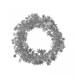 Metalik Ağaç Süsleme Garlandı Gümüş