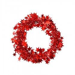 Metalik Ağaç Süsleme Garlandı Kırmızı