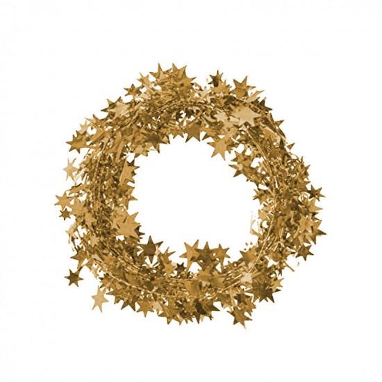 Metalik Ağaç Süsleme Garlandı Altın