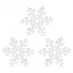 Yılbaşı Dekoratif Simli Kar Taneleri 3'lü