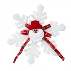 Yılbaşı Noel Baba Dekorlu Kar Tanesi
