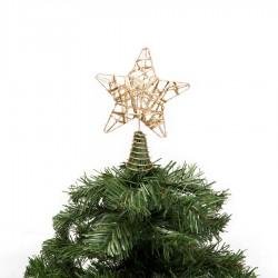 Yılbaşı Çam Ağacı Altın Simli Tepe Yıldızı