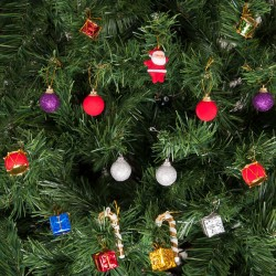 Yılbaşı Çam Ağacı Süsleme Seti Gümüş Toplar 27'li