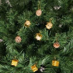 Yılbaşı Çam Ağacı Altın Davullu Süs Seti 12'li