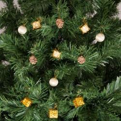 Yılbaşı Çam Ağacı Altın Toplu Süs Seti 12'li
