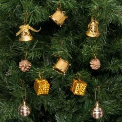Yılbaşı Çam Ağacı Süsleme Seti Altın 20'li