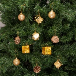 Yılbaşı Çam Ağacı Süsleme Seti Altın 24'lü