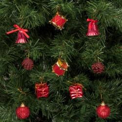 Yılbaşı Çam Ağacı Süsleme Seti Kırmızı 20'li