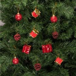 Yılbaşı Çam Ağacı Süsleme Seti Kırmızı 24'lü