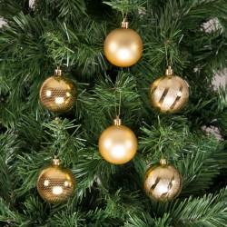 Yılbaşı Çam Ağacı Süsü Altın 6 cm 24'lü