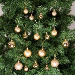 Yılbaşı Çam Ağacı Süsü Altın Set 36'lı