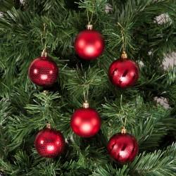 Yılbaşı Çam Ağacı Süsü Kırmızı 6 cm 24'lü