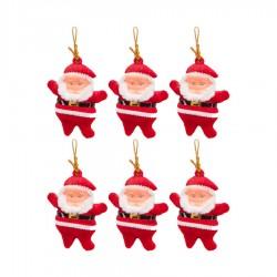 Yılbaşı Çam Ağacı Süsü Noel Baba 6'lı
