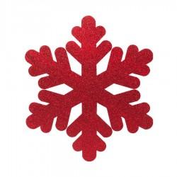 Yılbaşı Strafor Kar Tanesi Kırmızı 25 cm