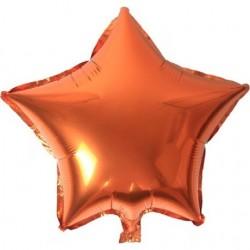 Turuncu Yıldız Folyo Balon 46 cm