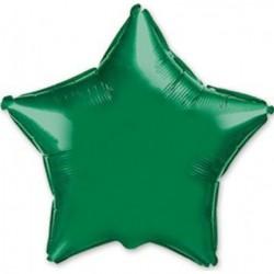 Koyu Yeşil Yıldız Folyo Balon 46 cm