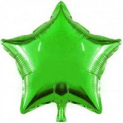 Yeşil Yıldız Folyo Balon 46 cm