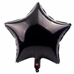 Siyah Yıldız Folyo Balon 46 cm
