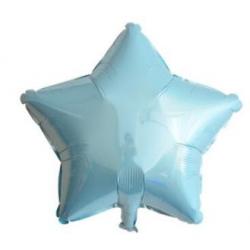 Açık Mavi Yıldız Folyo Balon 46 cm