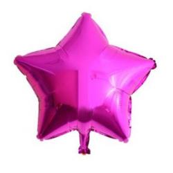 Fuşya Yıldız Folyo Balon 46 cm