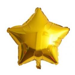 Altın Yıldız Folyo Balon 60 cm