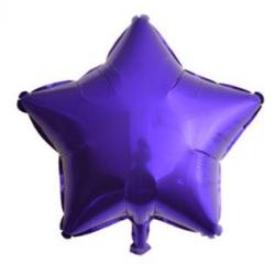 Koyu Mavi Yıldız Folyo Balon 46 cm